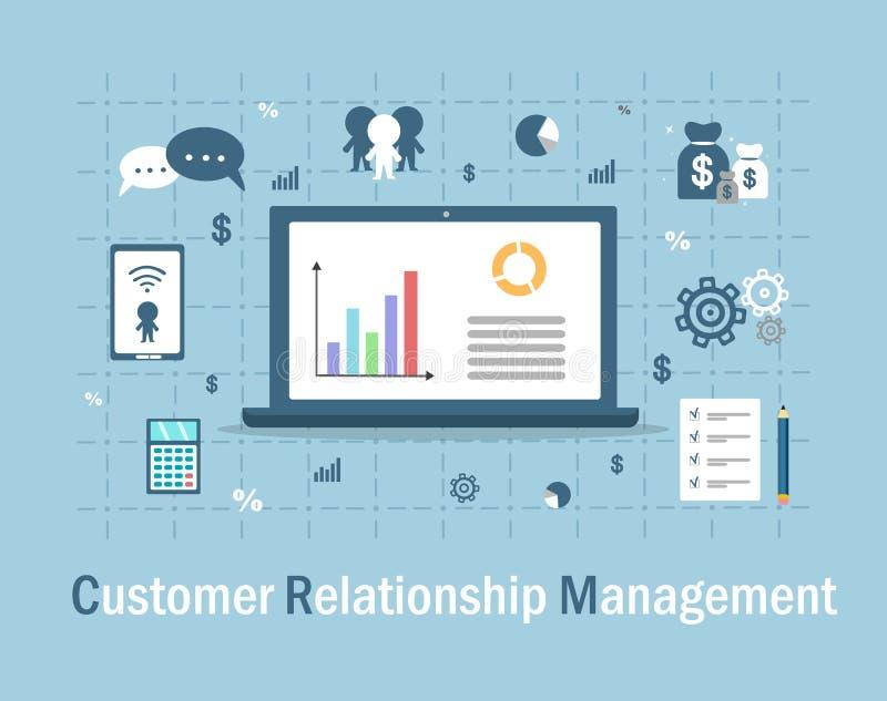 Управление отношения клиента иллюстрация вектора