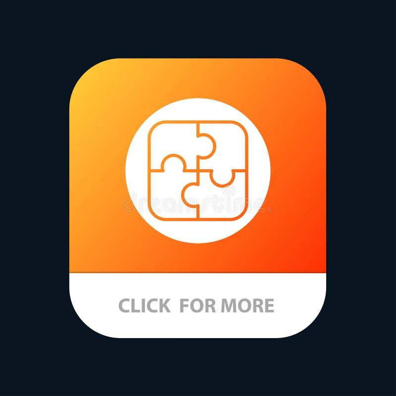 Управление, план, планирование, кнопка приложения решения мобильная Андроид и глиф IOS версия иллюстрация вектора
