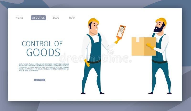 Управление работника склада мужское доставки товаров иллюстрация штока