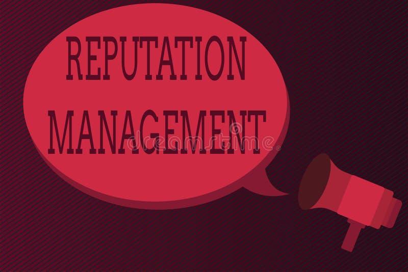 Управление репутации текста сочинительства слова Концепция дела для влияния и контролирует восстановление бренда изображения иллюстрация вектора