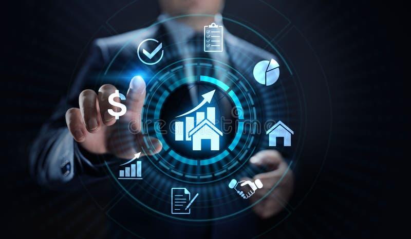 Управление свойства деятельность, контроль, и промах недвижимости r иллюстрация штока