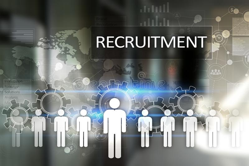 Управление человеческих ресурсов, HR, рекрутство, руководство и teambuilding Концепция дела и технологии иллюстрация штока
