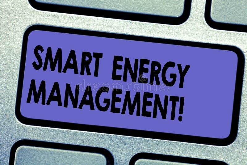 Управление энергией текста сочинительства слова умное Концепция дела для зависимости потребителя Lessen на обычной энергии иллюстрация вектора