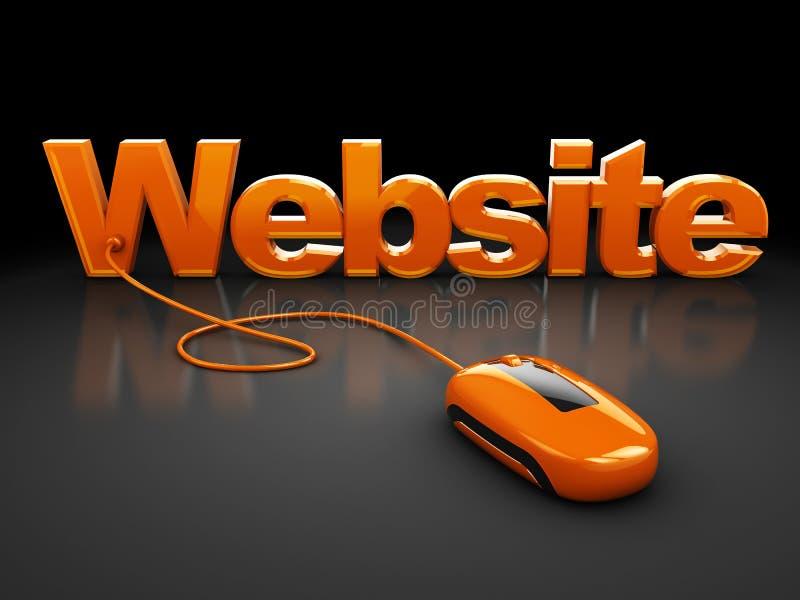 управляйте вебсайтом иллюстрация вектора