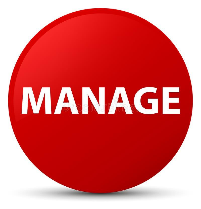 Управляйте красной круглой кнопкой иллюстрация штока