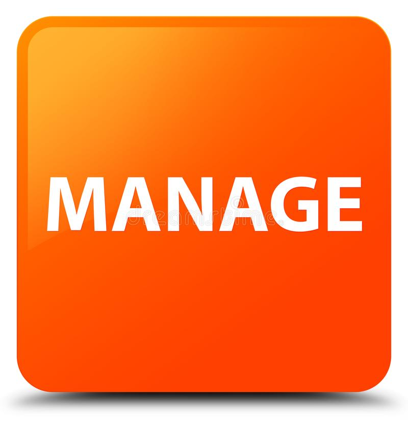 Управляйте оранжевой квадратной кнопкой иллюстрация штока
