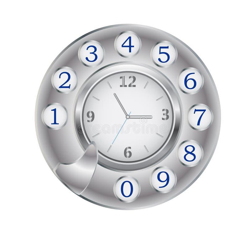 управляйте телефоном часов иллюстрация вектора