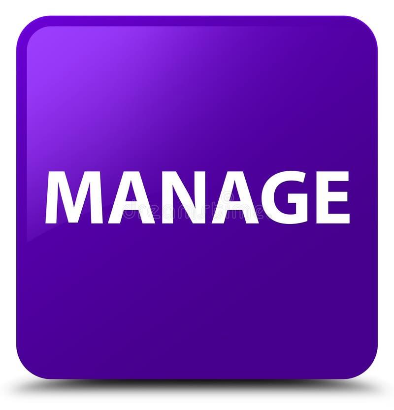 Управляйте фиолетовой квадратной кнопкой иллюстрация штока