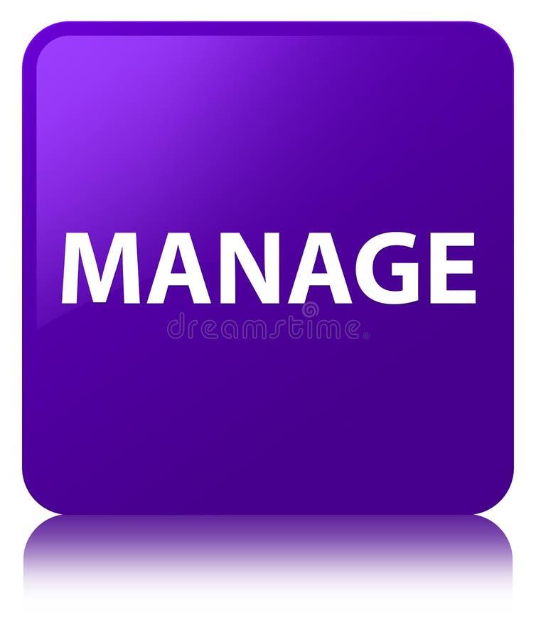 Управляйте фиолетовой квадратной кнопкой бесплатная иллюстрация