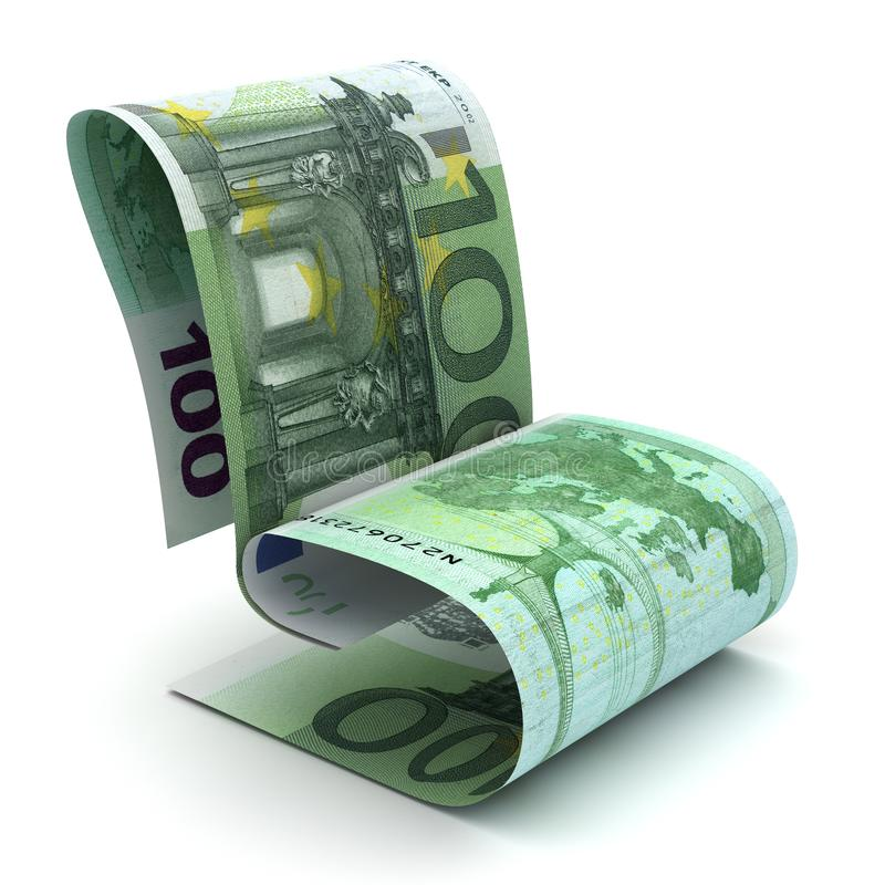 Управляя европейское евро иллюстрация вектора