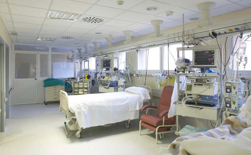 Управление и исследование комнаты хирургии больницы медицинские стоковые изображения