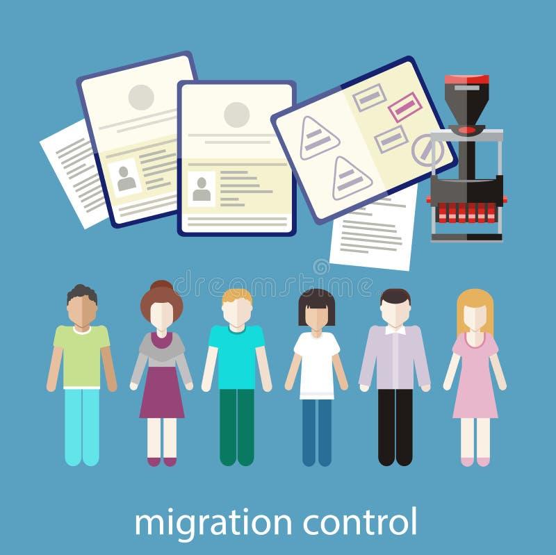 Управление миграции иллюстрация вектора
