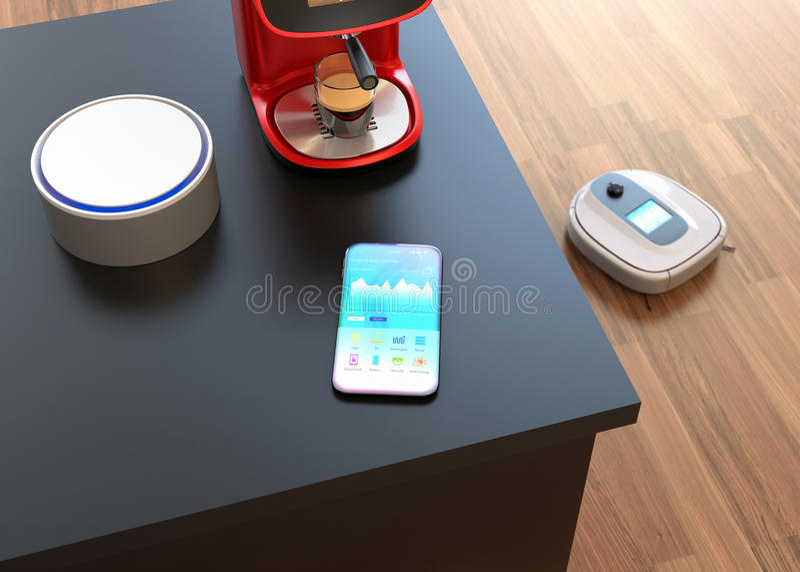 Управление домашней автоматизации умным телефоном бесплатная иллюстрация