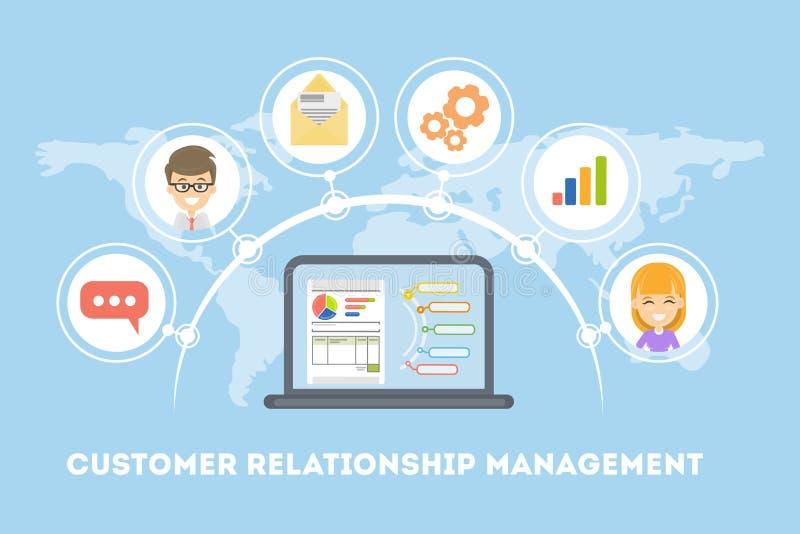 Управление отношения клиента иллюстрация штока