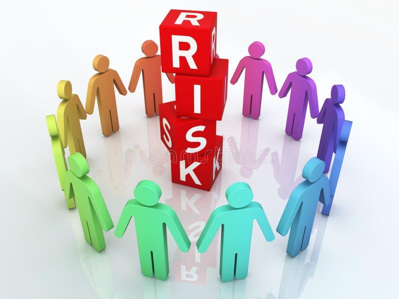 Управление при допущениеи риска команды иллюстрация вектора
