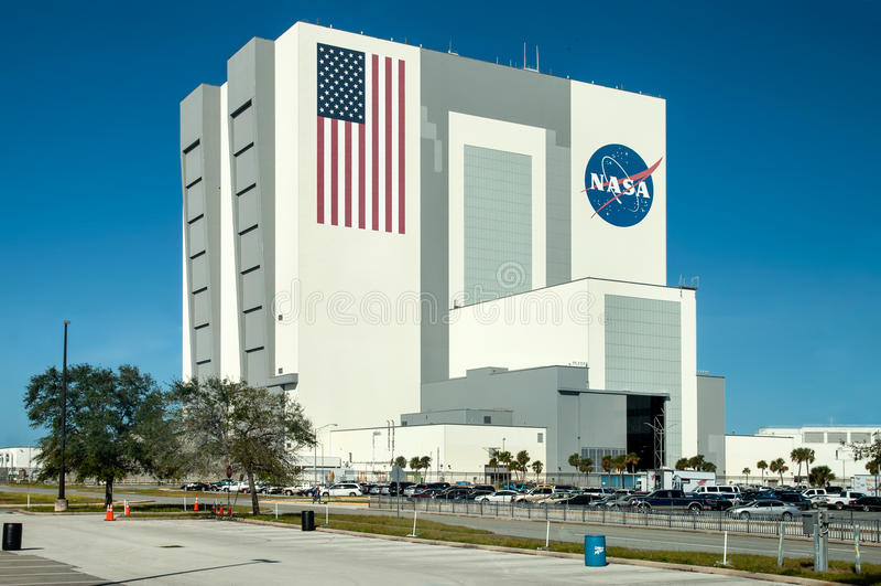 Управление старта NASA на космическом центре Кеннеди, Мыс Канаверал стоковые изображения