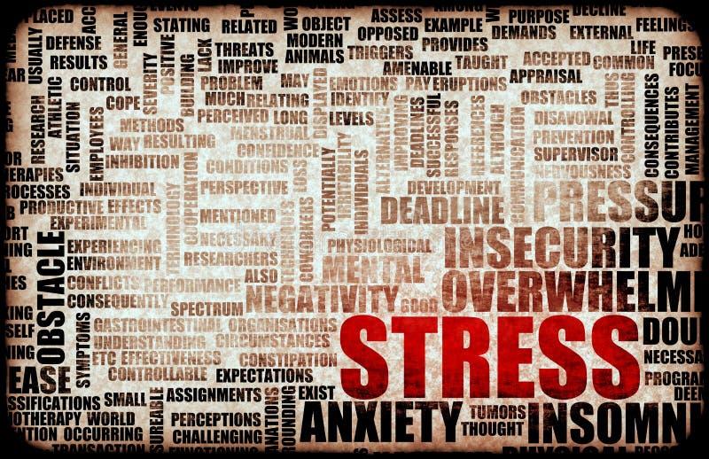 Управление стресса иллюстрация вектора