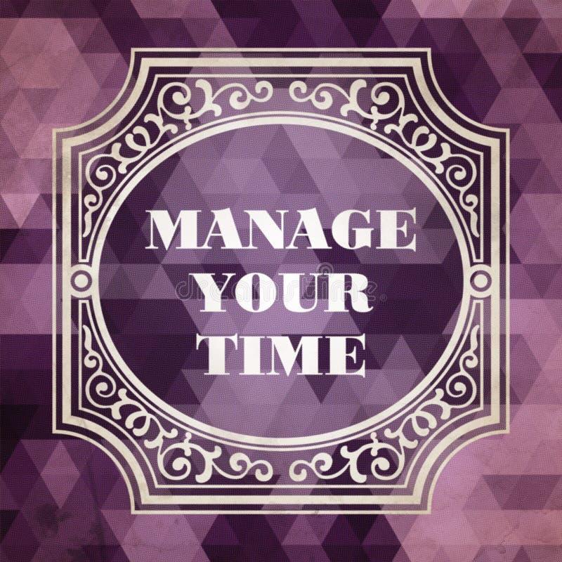 Управляйте вашим временем. Винтажная предпосылка. иллюстрация штока