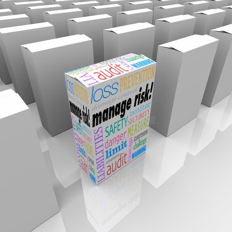 Управляйте коробкой пакета риска выберите самый лучший вариант безопасности безопасностью иллюстрация штока