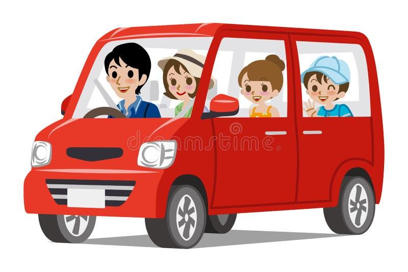 Управлять семейного автомобиля - взгляд со стороны бесплатная иллюстрация