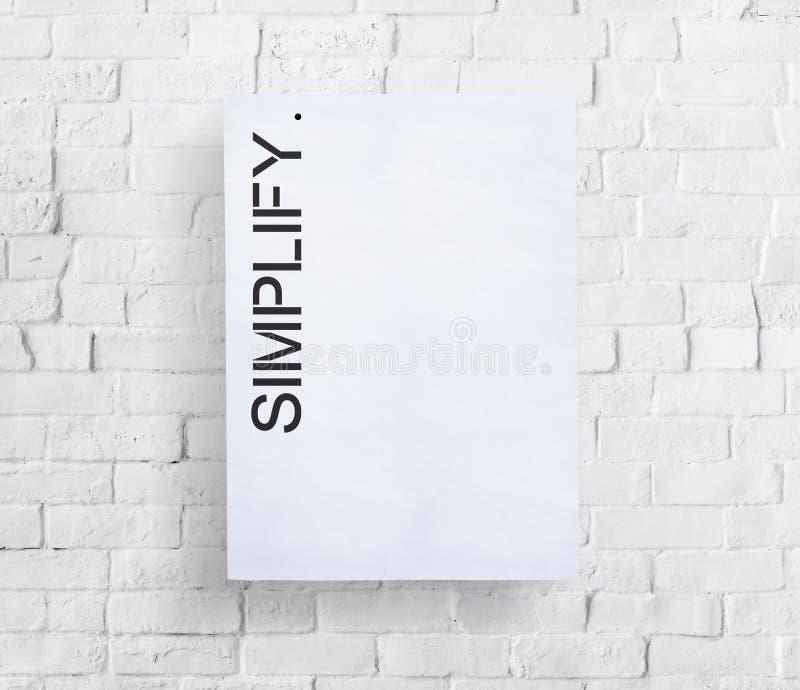 Упростите Simpleness уточните концепцию Easiness минимальную стоковое изображение rf