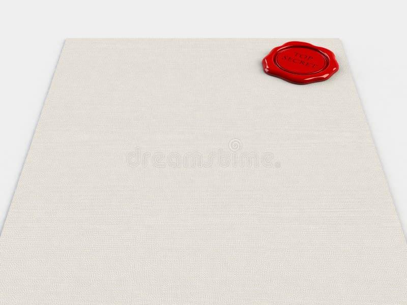 Уплотнение воска на белой предпосылке стоковые изображения rf