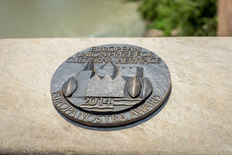 Уплотнение культурного наследия, награда nostra Европы для города шнура стоковая фотография rf