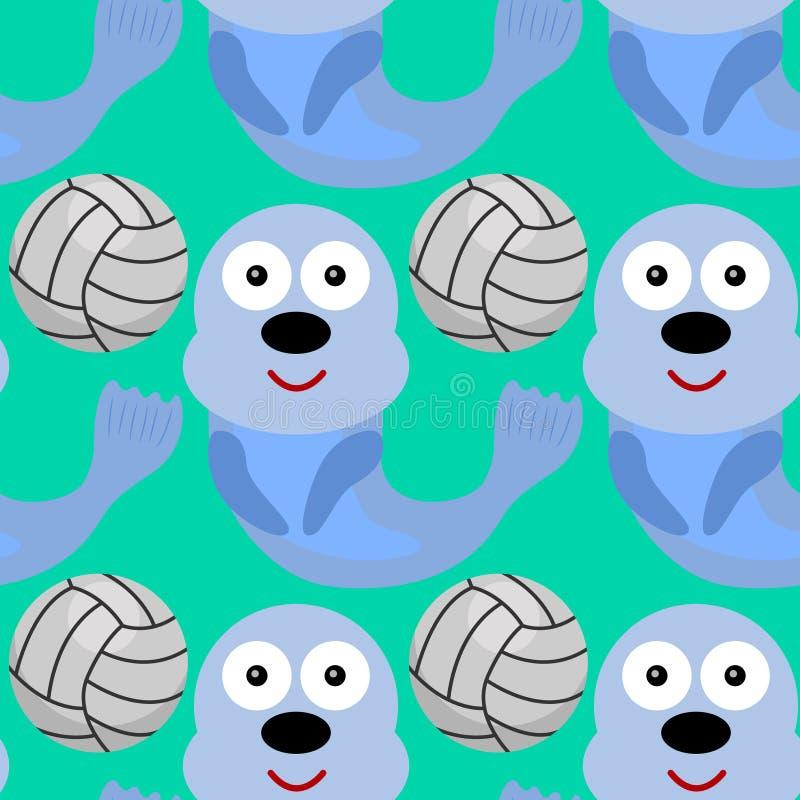 Уплотнение с дизайном предпосылки футбольного мяча безшовным иллюстрация штока