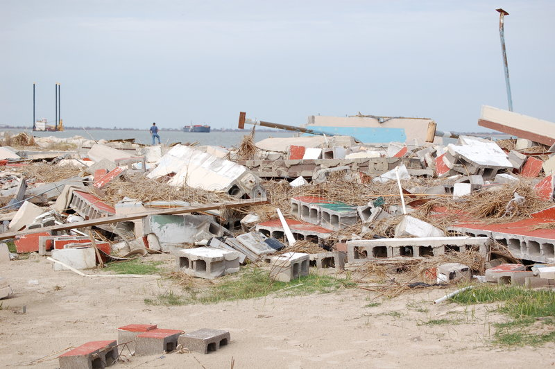ураган повреждения стоковое изображение rf