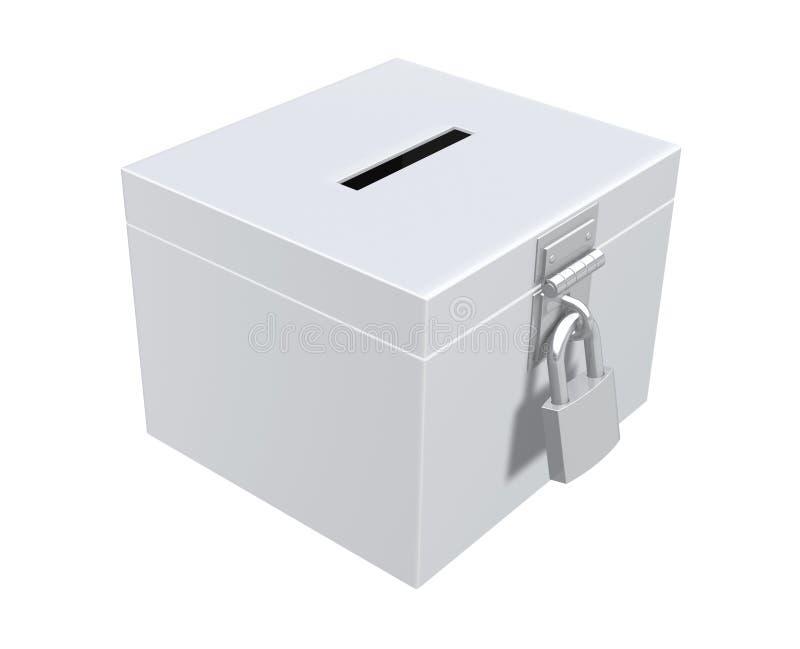 Урна для избирательных бюллетеней иллюстрация штока
