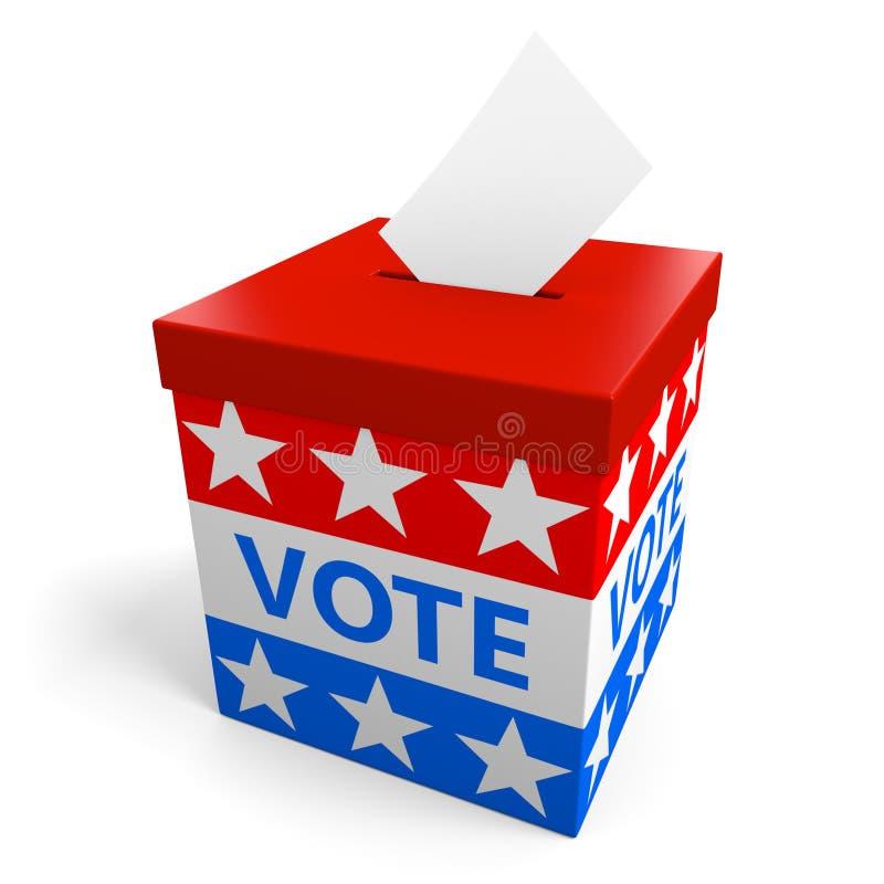Урна для избирательных бюллетеней для собирать голосует от американского политического избрания бесплатная иллюстрация