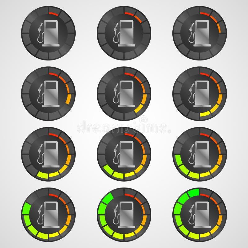 Уровень горючего значка стоковое фото rf