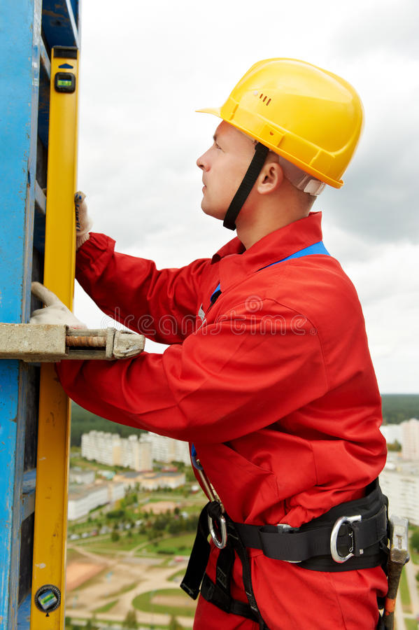 уровень строителя стоковое изображение