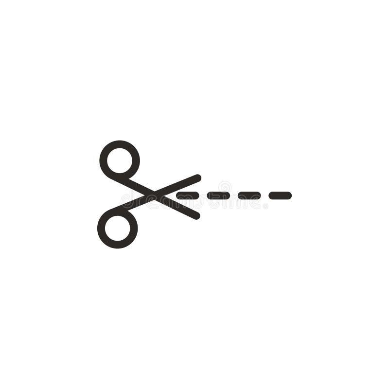 Урожай, значок вектора ножниц Элемент инструмента для конструирования для мобильных концепции и вектора приложений сети Тонкая ли бесплатная иллюстрация