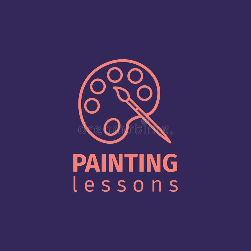 Уроки картины утончают линию значок иллюстрация вектора
