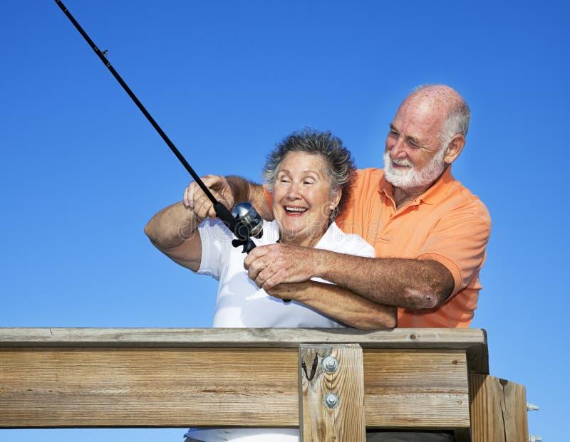 уроки рыболовства стоковая фотография