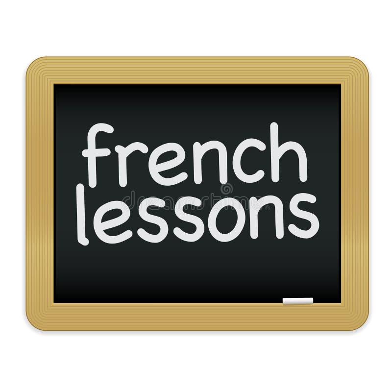 уроки Chalkboard французские Стоковое Изображение