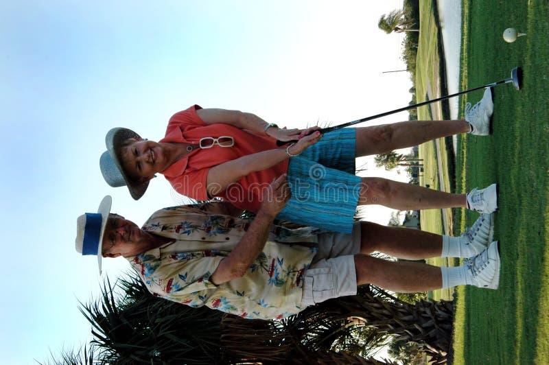 урок гольфа стоковые изображения