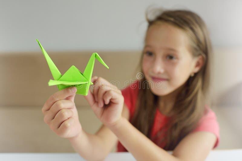 Урок origami стоковая фотография