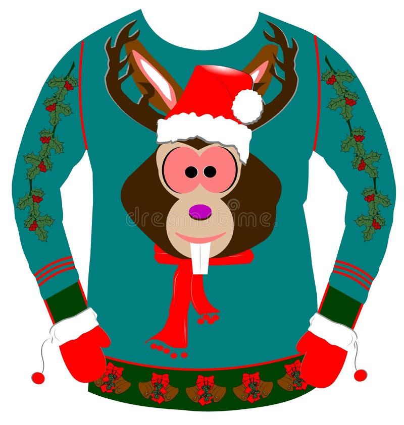 Уродский свитер рождества иллюстрация штока