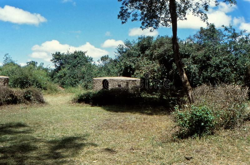 Усадьба Масаи Хут, Бомас, Найроби, Кения стоковое фото