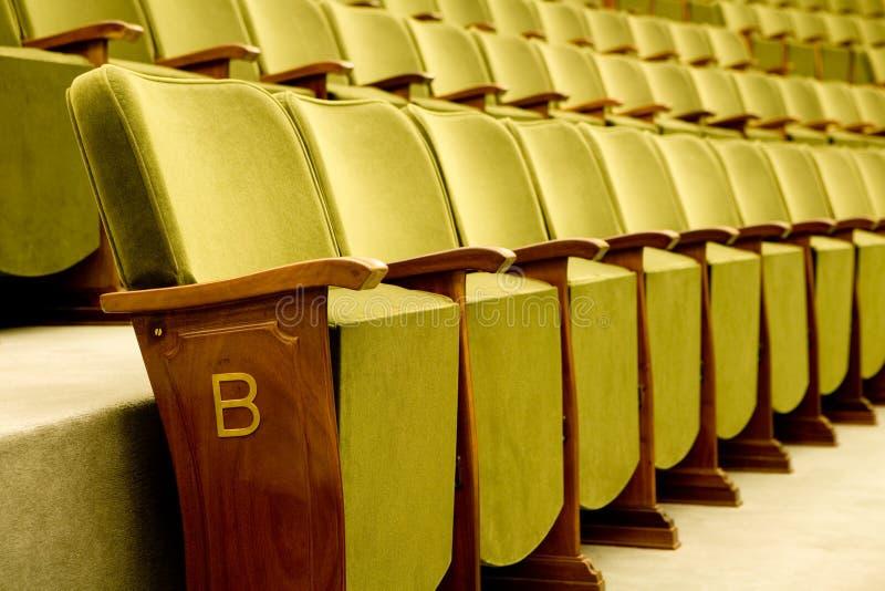 усаживает театр стоковое фото rf