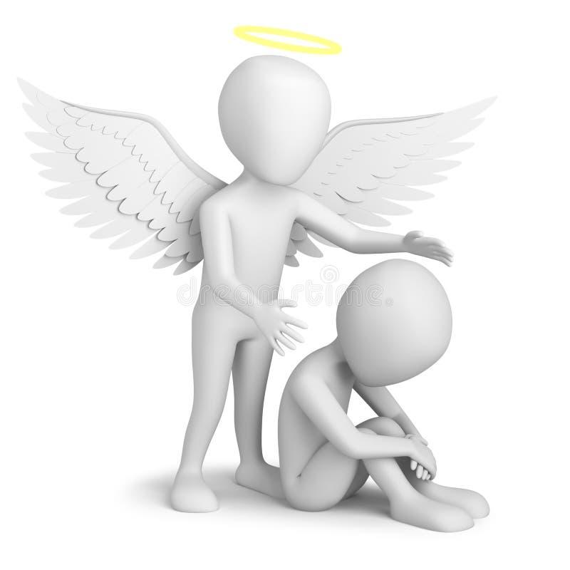 Ангел радетеля! иллюстрация штока