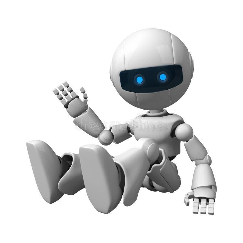 усаживание робота иллюстрация штока