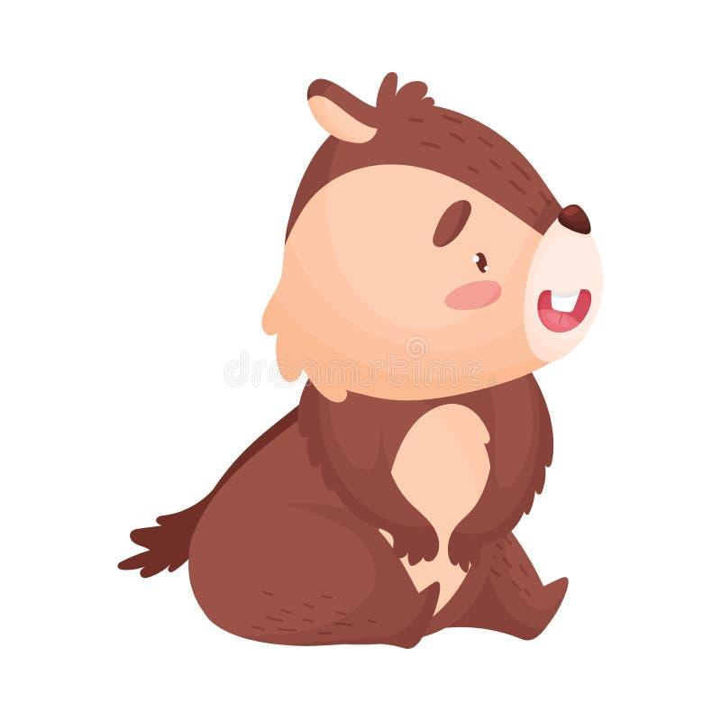 Усаживание Сибирского бурундука мультфильма r иллюстрация штока