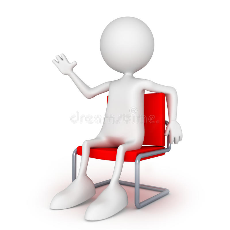 усаживание стула легкое высокое бесплатная иллюстрация