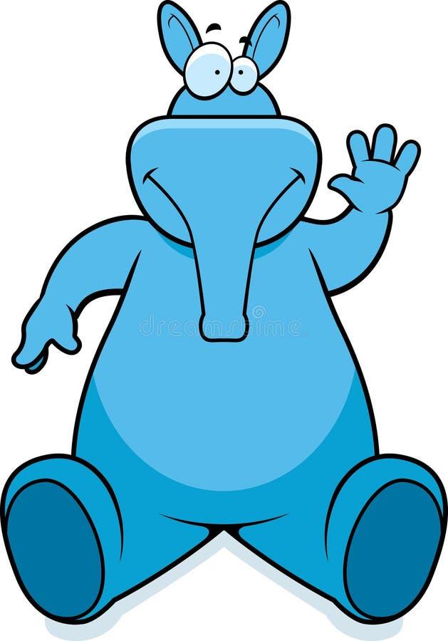усаживание aardvark иллюстрация вектора