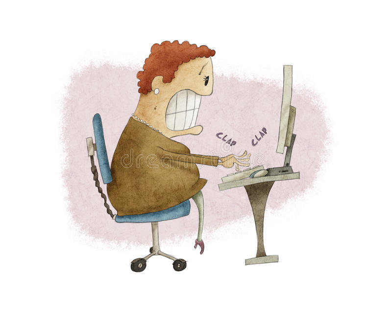 Усиленная секретарша бесплатная иллюстрация