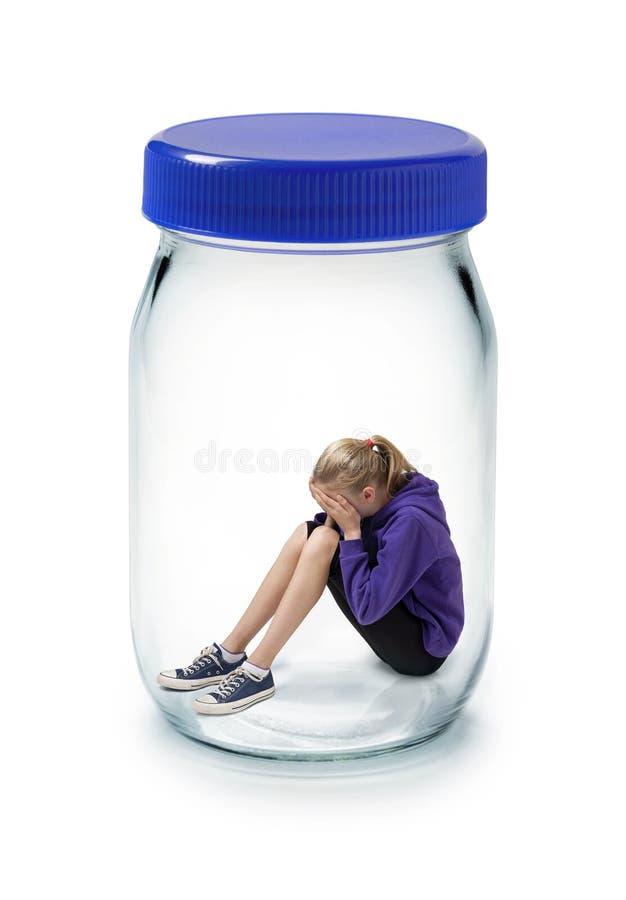 усилие ребенка тревожности стоковая фотография rf