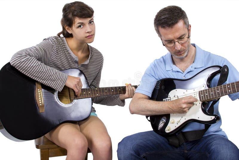 Усиленный вне студент музыки стоковое фото rf